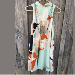 Anthropologie $178 Maeve Les Fauves silk dress